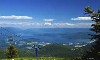 lake pend oreille from schweitzer ski resort photograph by