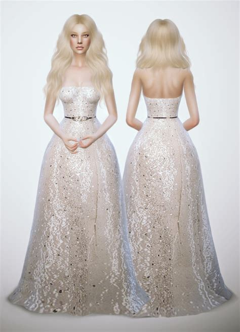 sims 4 royalty dresses glitter white dress at fashion royalty sims 187 sims 4 updates
