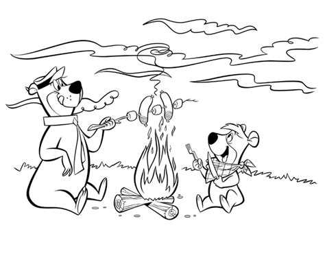 Yogi Bear Coloring Pages Yogi Coloring Pages