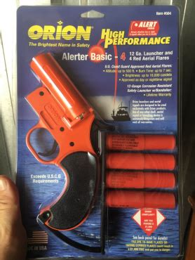 boat safety flares canada new orion flare gun and flares junk mail