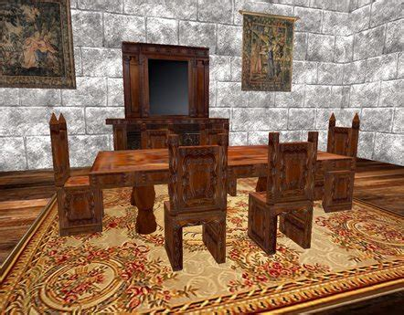 second life marketplace christmas dinner table set v 01 second life marketplace boxed carved medieval dining