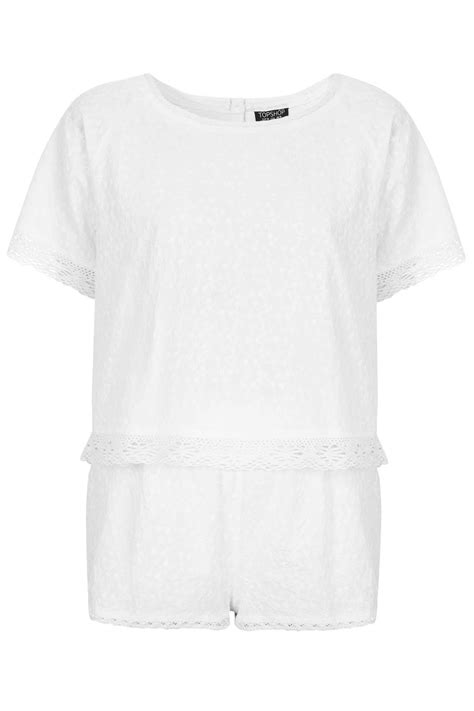 pug pajamas topshop topshop pug and pyjama set in white lyst