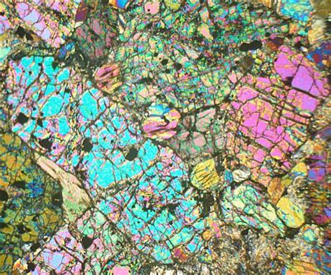 Hypersthene Thin Section by Ultramafic Rock Maaruig Harris Outer Hebrides Thin Section Microscope Slide Geosec