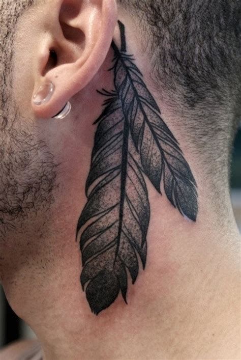 feather behind ear tattoo the ear 55 different suggestions