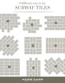 Subway Tile Patterns 25 best ideas about subway tile patterns on pinterest