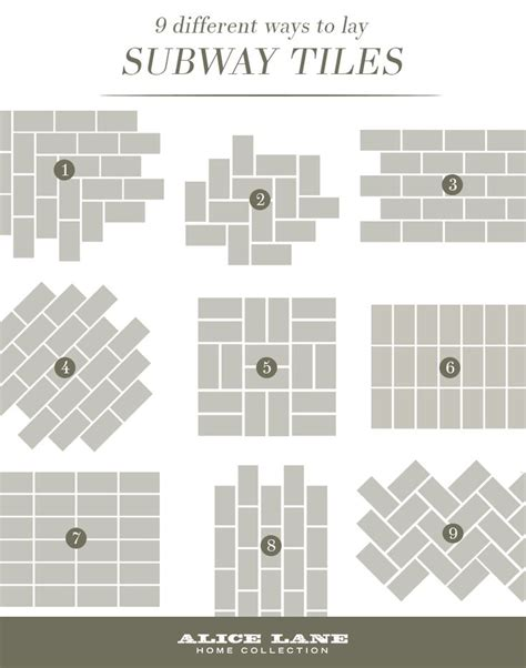 subway tile designs best 25 subway tile patterns ideas on pinterest tile