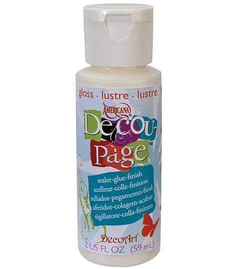 How To Make Decoupage Glue - decoart americana decoupage glue 2 oz gloss jo
