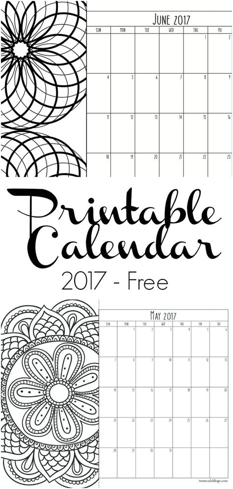 printable monthly calendar sheets 17 best ideas about 2017 calendar printable on pinterest