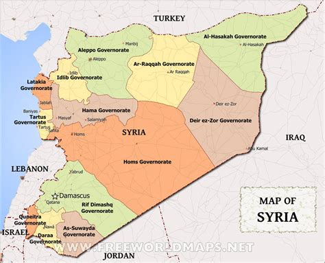 syria on map syria map