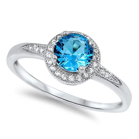 halo ring new 925 sterling silver wedding