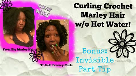 marley hair hot water curling crochet marley hair w o hot water youtube
