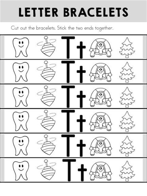 printable alphabet bracelets alphabet adventures letter t the alphabet the o jays