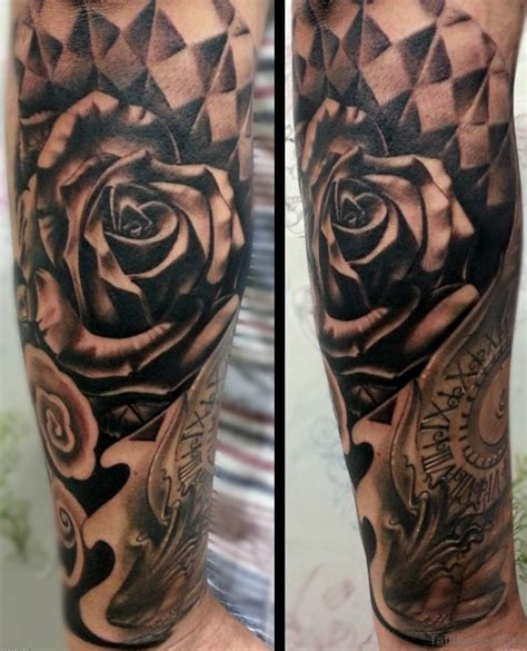 black rose half sleeve tattoos 100 best sleeve tattoos for