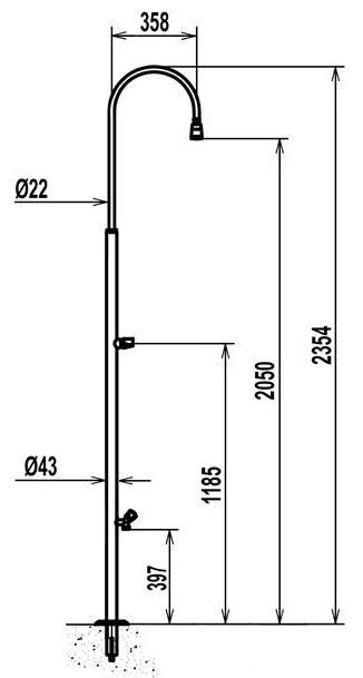 dimensioni doccia standard doccia inox standard con lavapiedi bsvillage