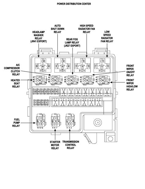 service manuals schematics 2009 chrysler sebring parental controls 2005 chrysler sebring sedan where is the relay or fuse for the radiator cooling fans