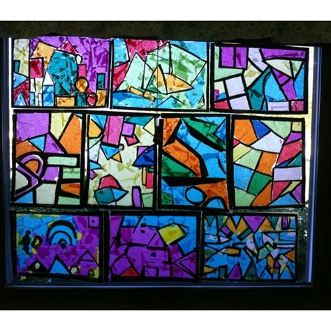 How To Make A Paper Stained Glass Window - pin by johnson on preschool kindergarten