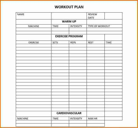 5 workout plan template divorce document