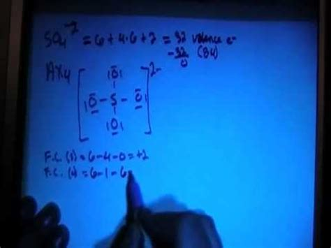 electron dot diagram youtube sulfate ion so4 2 lewis dot structure youtube