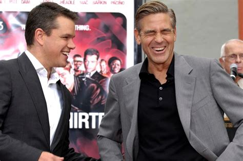 Pitt Clooney And Damon Get Cemented by This Is How George Clooney Brad Pitt And Matt