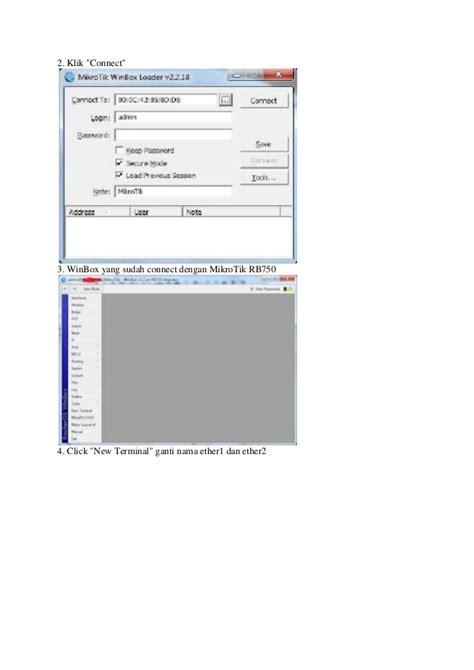 Modem Speedy Untuk Warnet cara setting mikrotik rb750 untuk warnet speedy dengan winbox