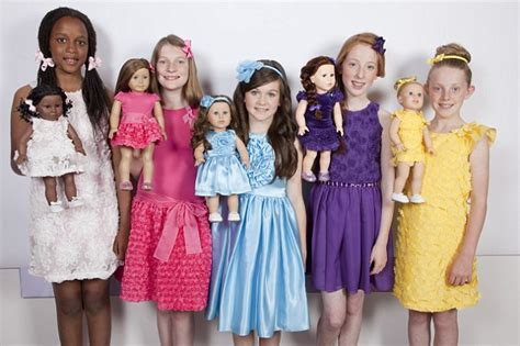design doll look like you meet the the mini me dolls matching freckles plaits