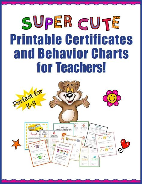 My New Simple Behaviors by Free Printable Certificates And Behavior Charts