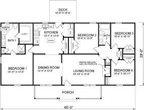 4 Bedroom Ranch House Plans With Basement by House Plan 45467 At Familyhomeplans Com