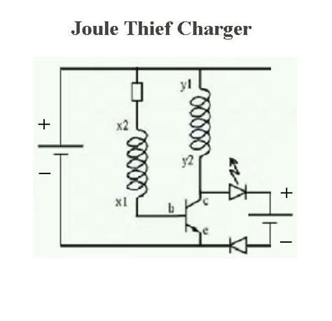 joule thief charging a capacitor basic joule thief charger