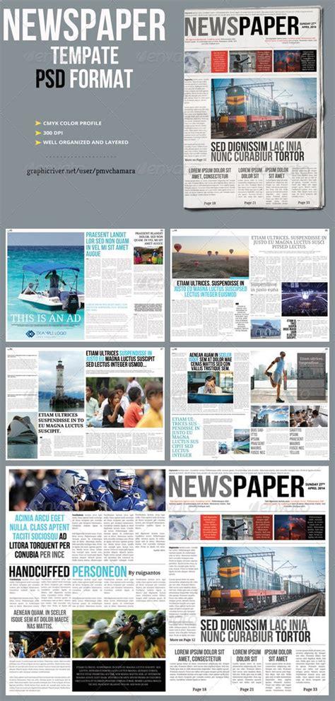 Newspaper Template Newsletters Print Templates Journalism Blogging Pinterest Newspaper Print Newsletter Templates Photoshop