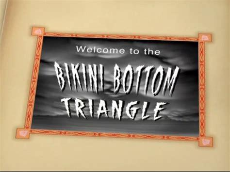 spongebuddy mania spongebob transcripts    bikini bottom triangle