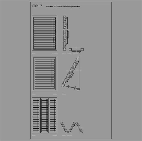 persiana dwg cad projects biblioteca bloques autocad arquitectura y