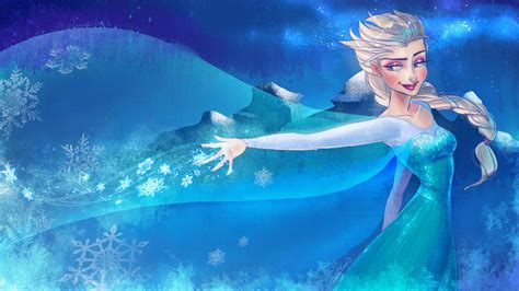 wallpaper frozen design frozen elsa anna digital fan art wallpapers