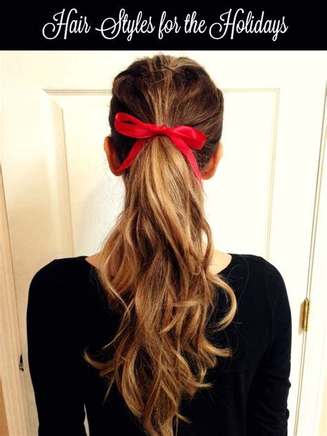 easy hairstyles ribbon easy new hairstyles for the holidays using the infiniti