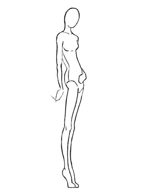 sketch model template fashion model drawing tips for your diy project