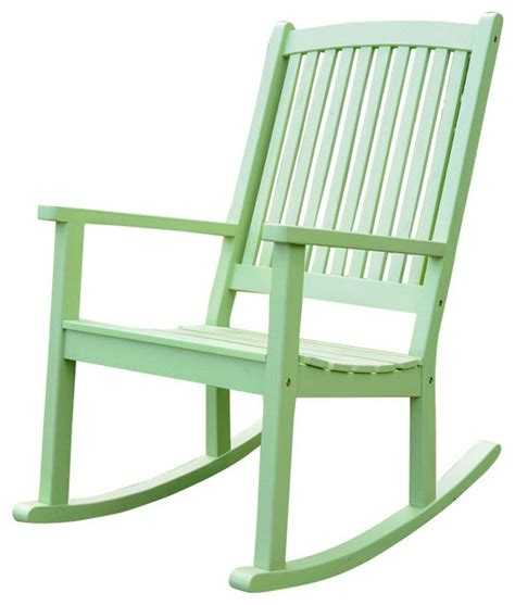Mint Chair by Acacia Large Rocking Chair Mint Green Traditional