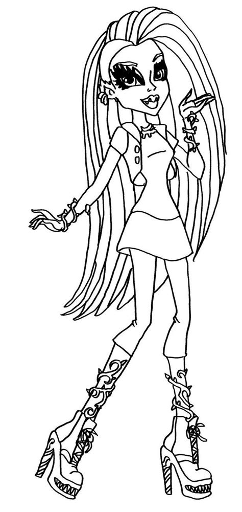 little monster high coloring pages free printable monster high coloring pages for kids