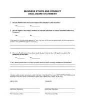 code of ethics template amp sample form biztree com