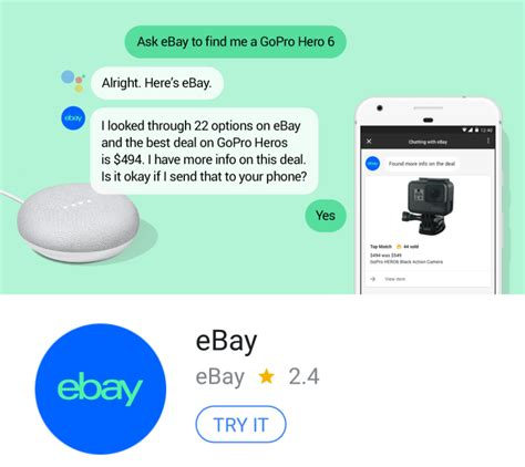 ebay news ebay google assistant app launches ahead of amazon