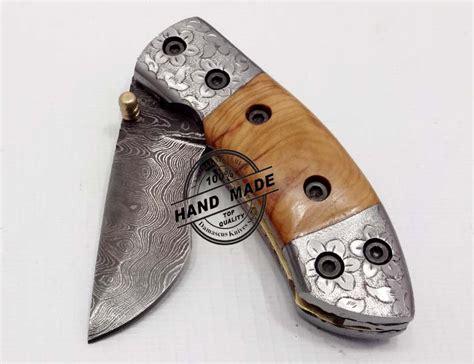 custom engraved knives engraved knife custom handmade damascus steel