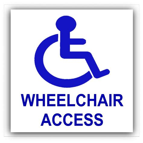 Sticker Cutting Toilet Uk 12x13 1 x disabled wheelchair access sticker disability sign wheelchair toilet self adhesive vinyl