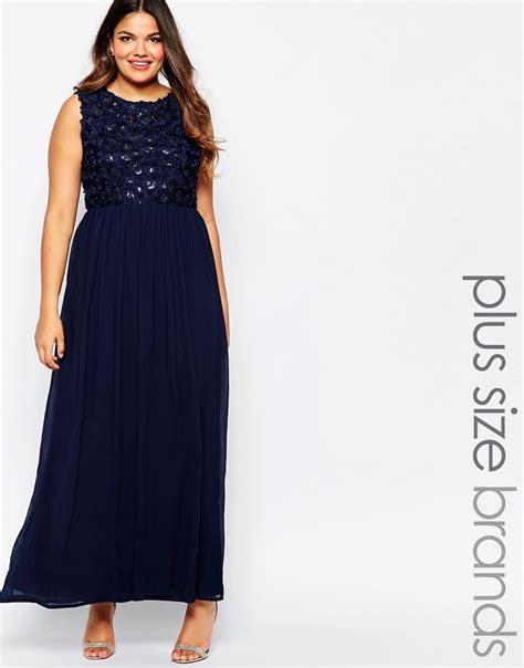 12 Maxi Vest Nurma Fit L Vr club l plus size maxi dress with 3d floral sequin top in