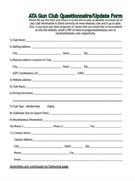 Credit Questionnaire Form 8 Tenant Questionnaire Form Sles Free Sle