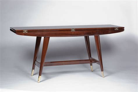 console table used as dining table gio ponti convertible console dining table at 1stdibs