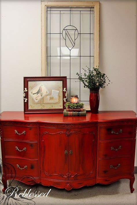 inspiration paints home design center llc buffet in brick red milk paint and black glaze general