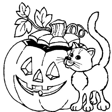 halloween color book pictures halloween coloring cat pumpkin halloween coloring