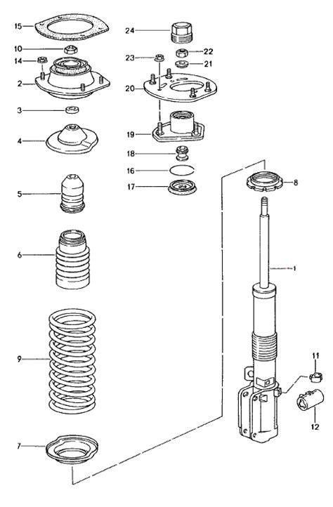 shock absorber diagram buy porsche 993 911 1994 98 shock absorber parts front