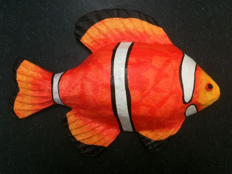 How To Make Paper Mache Fish - paintings by papier mache fish
