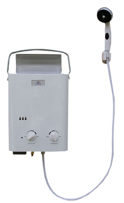 Eccotemp L5 Portable Tankless Water Heater And Outdoor Shower by An Eccotemp L5 Portable Tankless Water Heater And