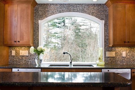 marvin arched custom window eclectic kitchen boston  westborough design center