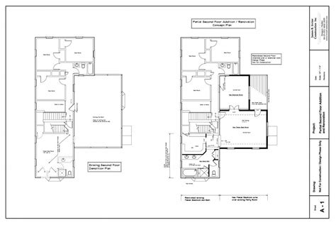 home addition blueprints partial second floor home addition maryland irvine